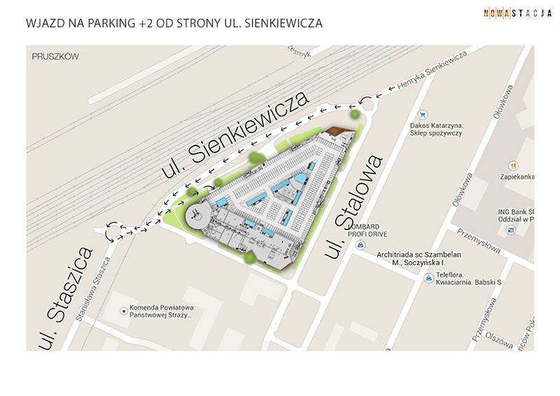 parking +2 od sienkiewicza